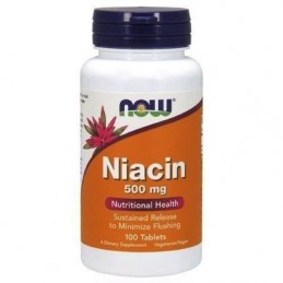 NOW - NIACIN 500MG 100tab